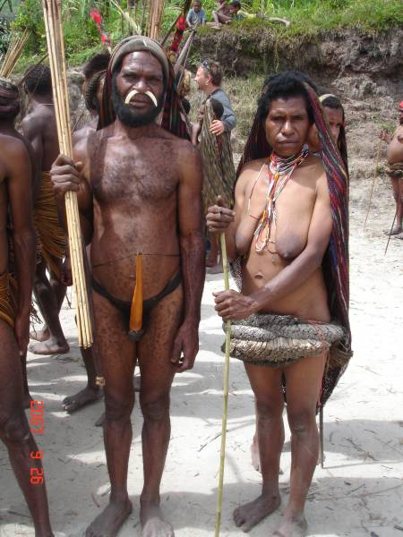 A Yanni tribe Couple in Irian Jaya...
